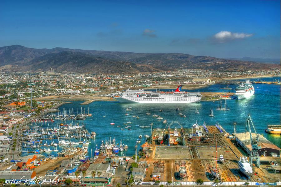 Ensenada Bay Baja California Mexico Hdr Creme