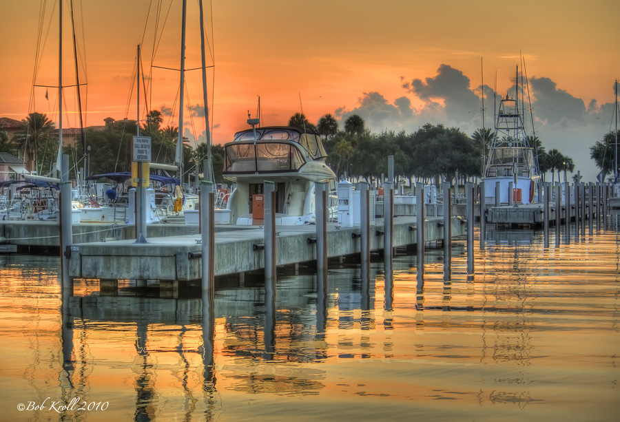 St pete marina at sunrise
