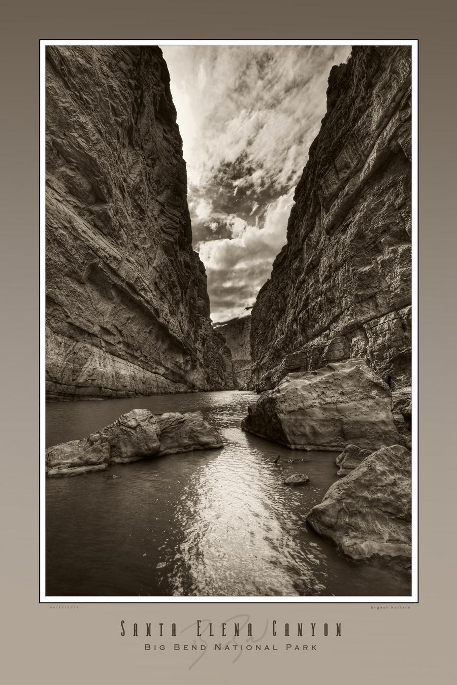 St elena canyon 24 x 36