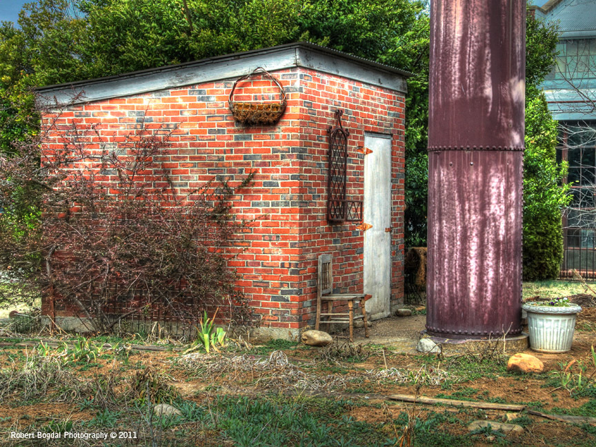Small brick building hdr photo hdr creme - Small belgian houses brick ...