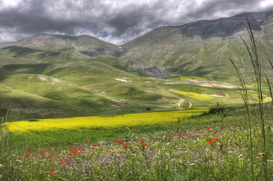Parco nazionale monti sibillini castelluccio norcia