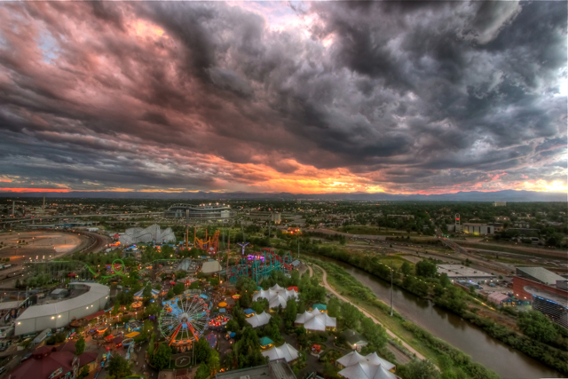 Elitch gardens sunset
