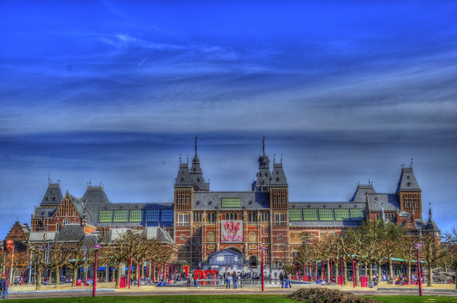 Amsterdam Netherlands  city images : Rijksmuseum Amsterdam Netherlands | HDR creme