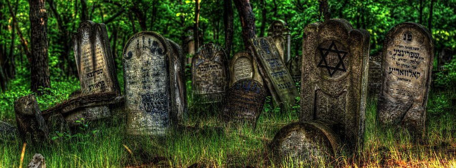 The remnants of a pre war jewish cemetery in poland