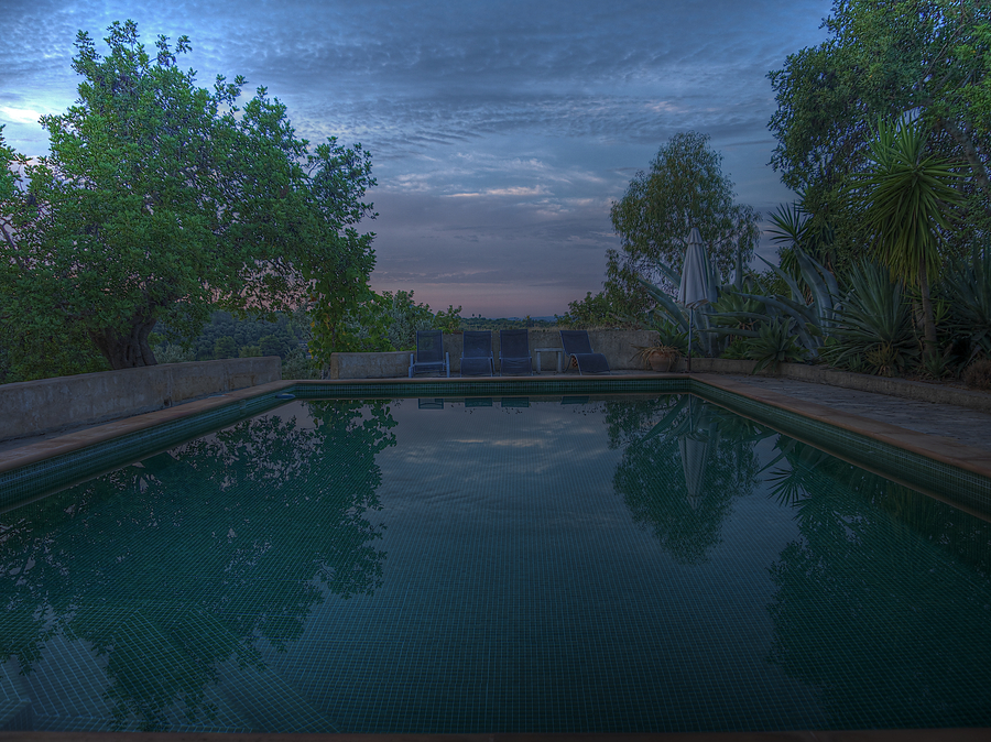 The pool early in the morning
