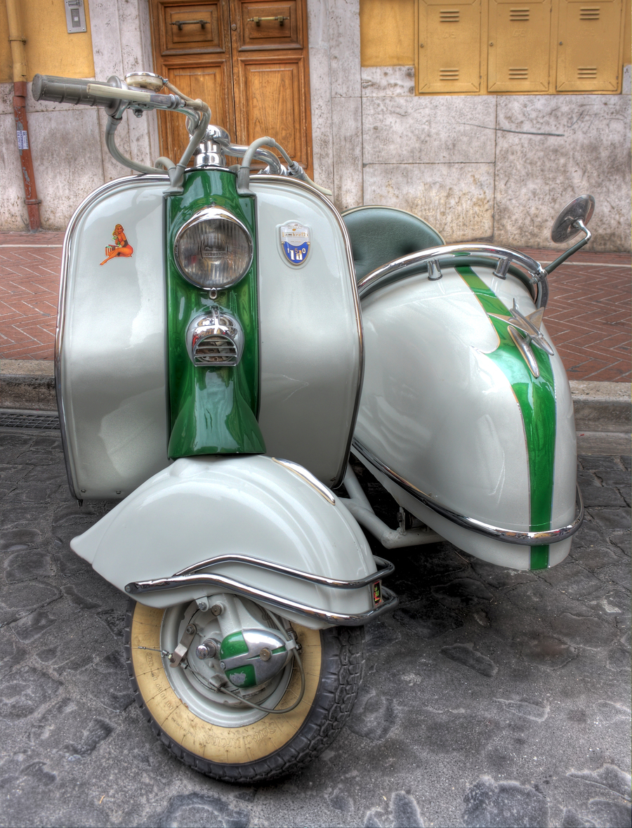 Lambretta sidecar hdr creme for Vespa decoracion