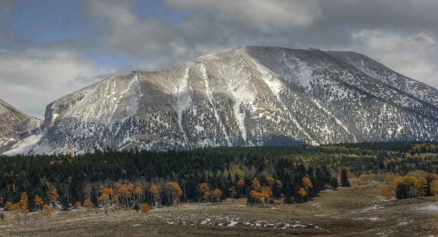 La veta pass fall snow