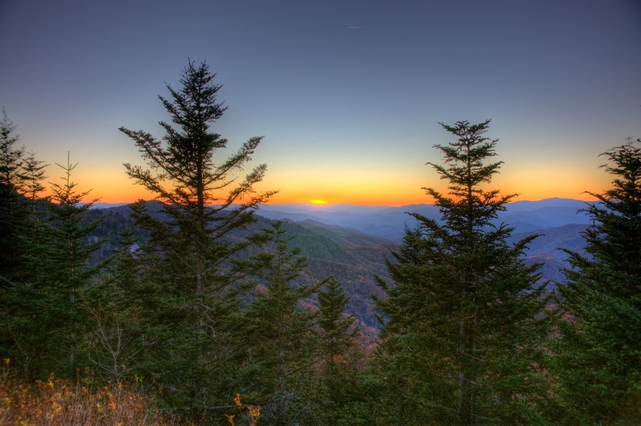 magnificent mountain sunset hdr - photo #29