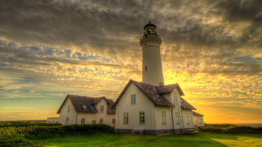 Hirtshals lighthouse denmark