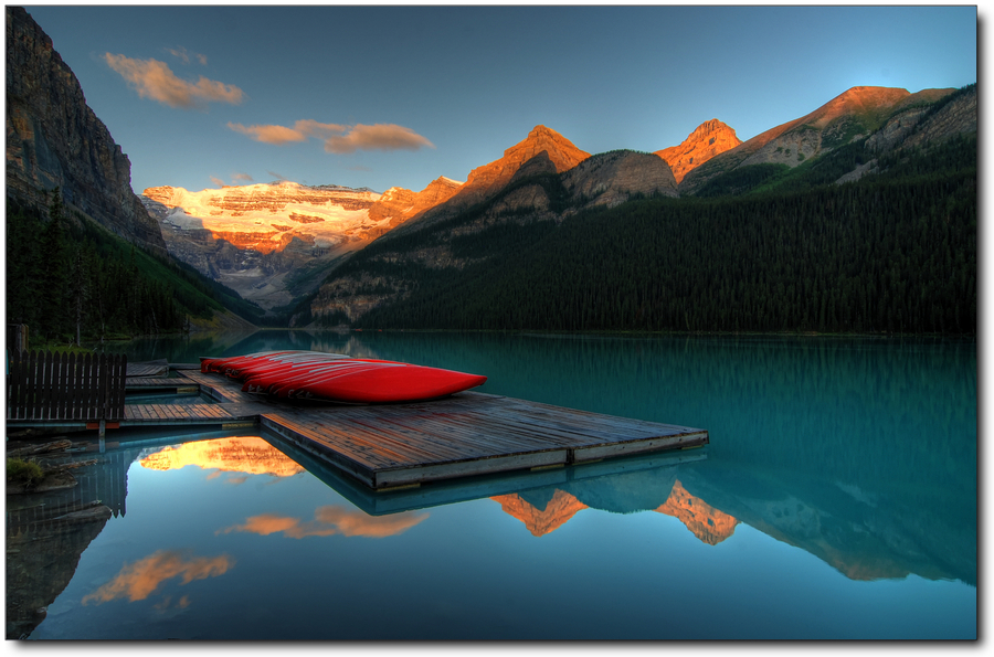 Banff (AB) Canada  city images : Lake Louise Banff NP AB Canada | HDR creme