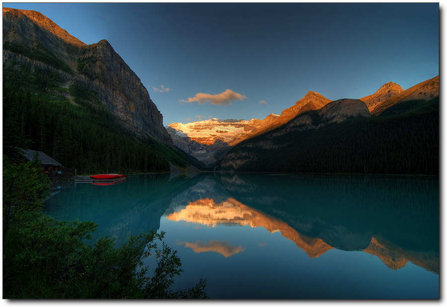 Lake Louise (AB) Canada  city pictures gallery : Lake Louise Banff NP AB Canada | HDR creme