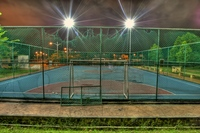 The-lonely-abandoned-court-