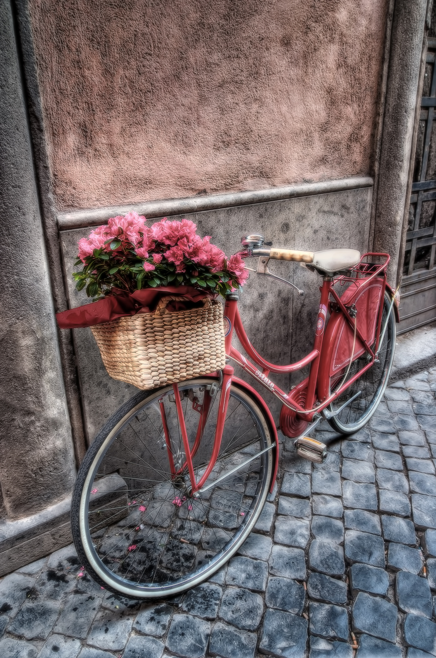Flowers on the bicycle