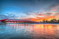 Peace Bridge Sunset