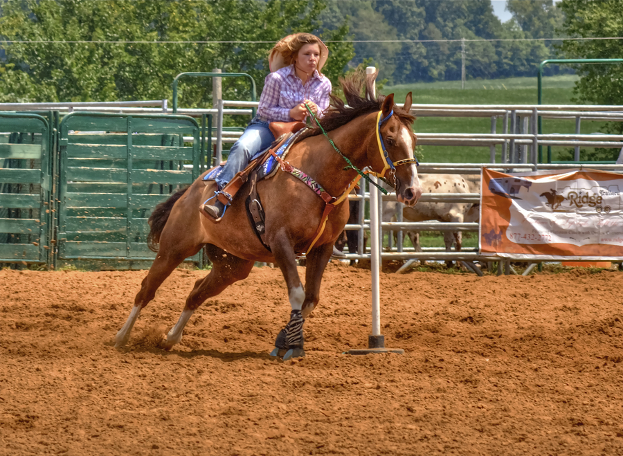 My daughter rodeo pole bending