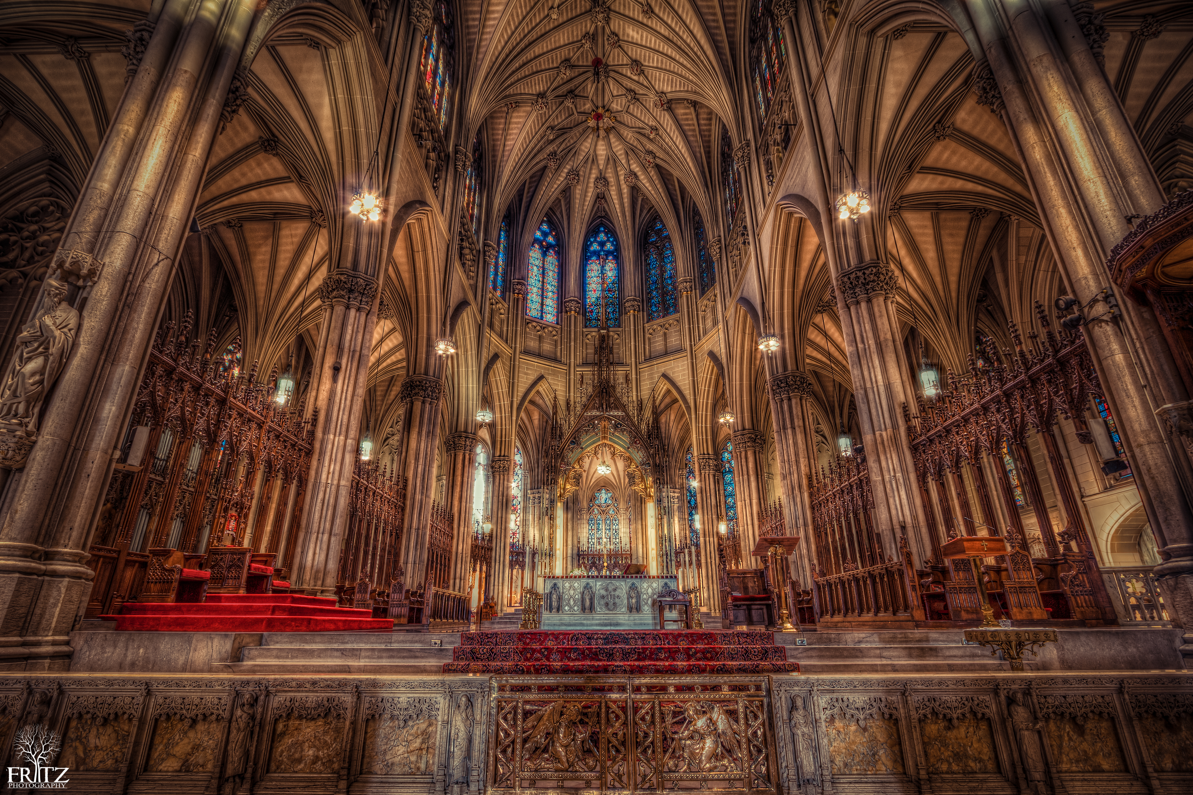 st patrick s cathedral nyc hdr creme