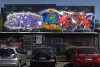 Train-graffiti-at-the-train-station-
