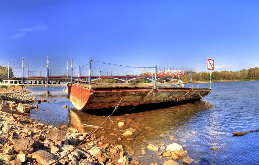Vistula river warsaw poland