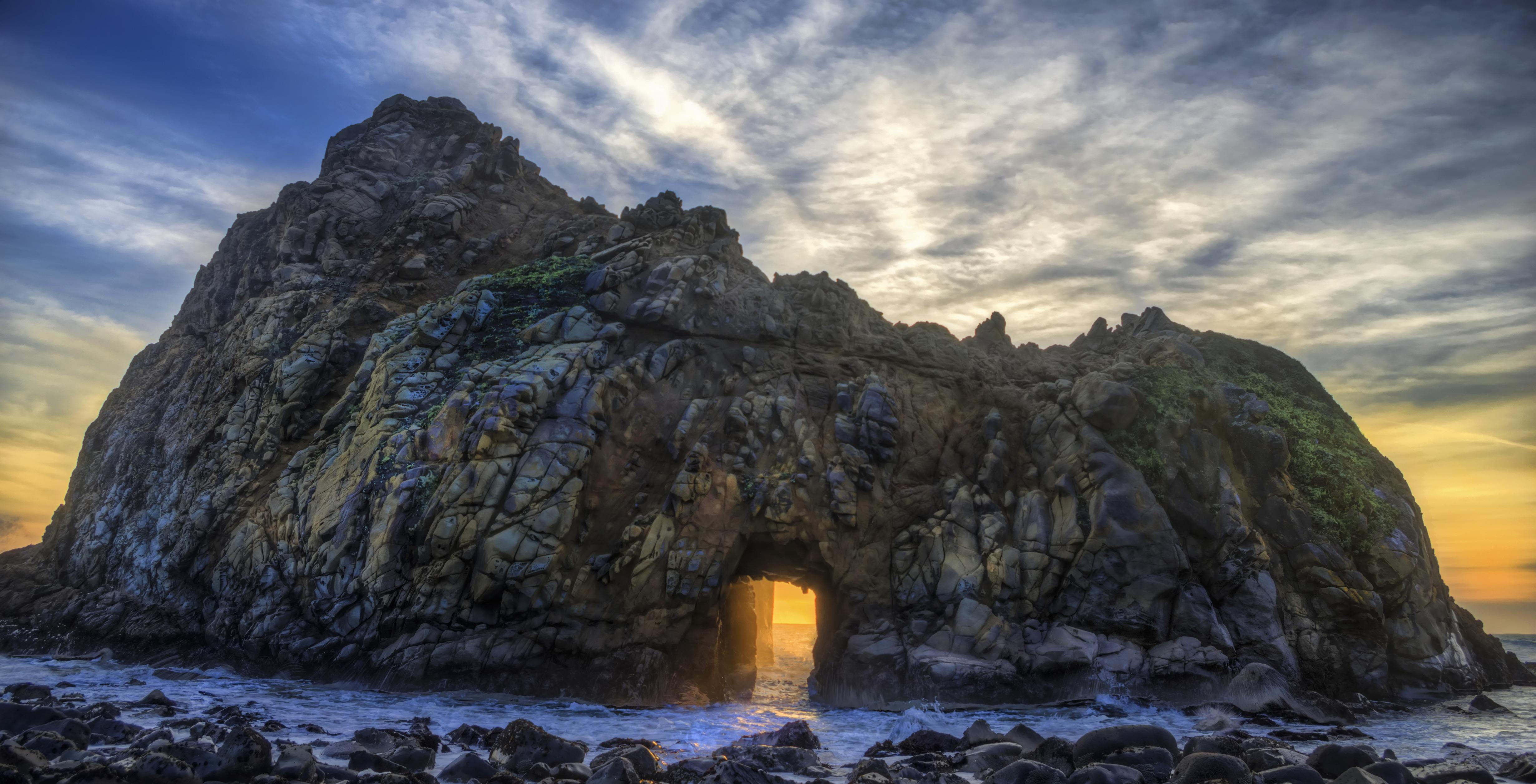 Big Sur Sunset Sunset in Big Sur | Hdr Creme