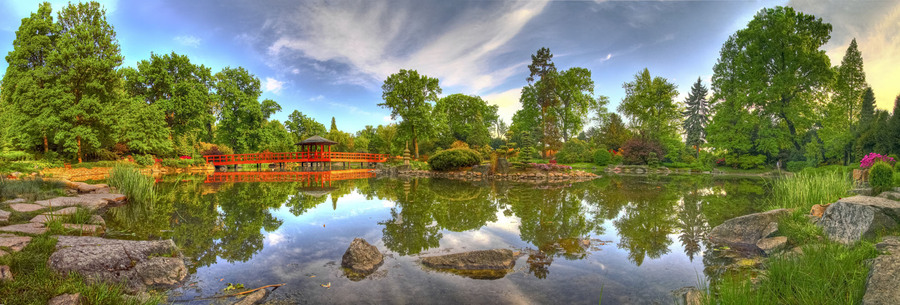 Japanese gardens wroclaw poland