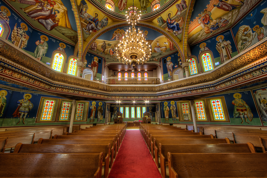 St. George Greek Orthodox Church | HDR creme
