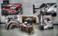 Oldtimer-paintings