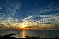 Contrails-and-a-sunset