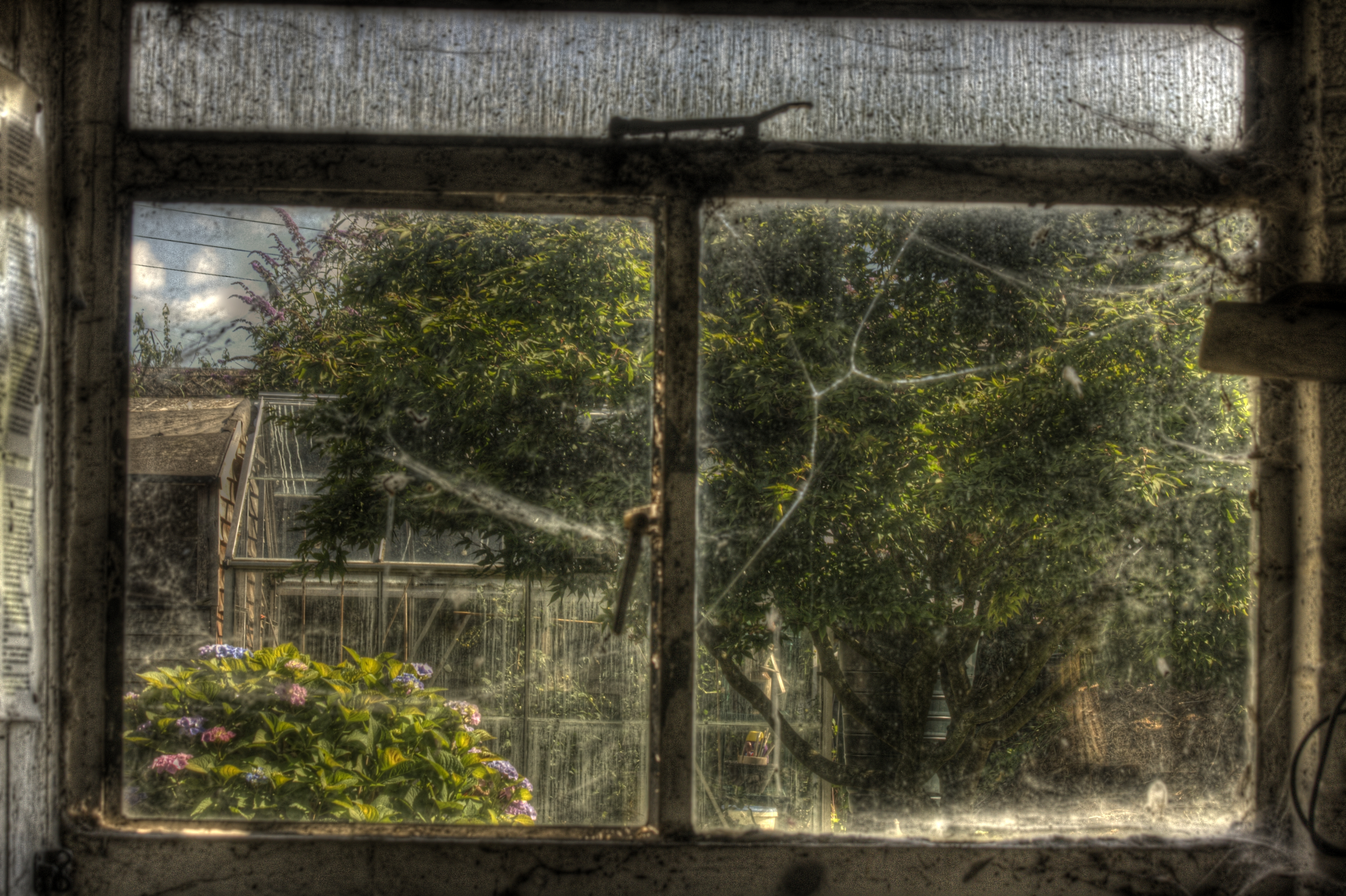 Old Window Old Window Hdr Creme