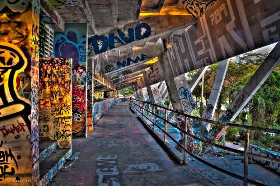 Abandoned Miami Marine Stadium Hdr Creme