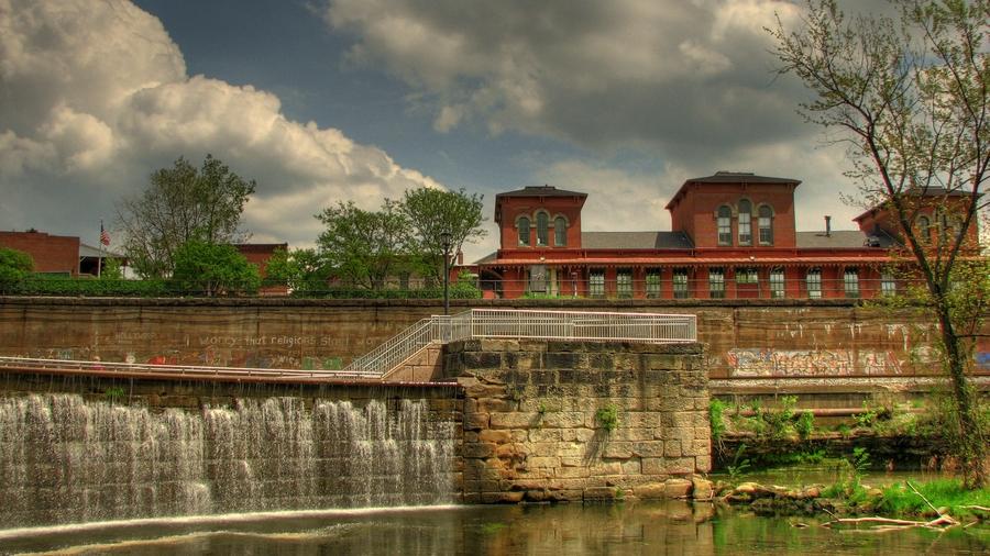 Waterfall Kent Ohio Hdr Creme