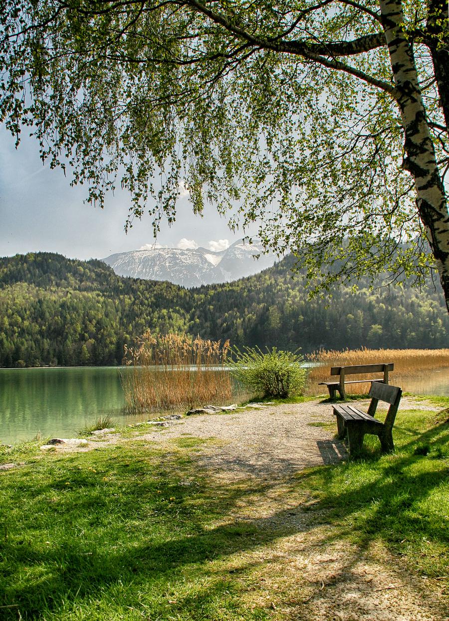 Allgaeu lake weissensee hdr