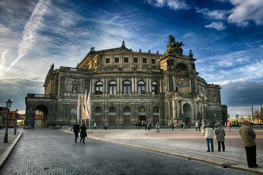Dresden semperoper perspektive hdr