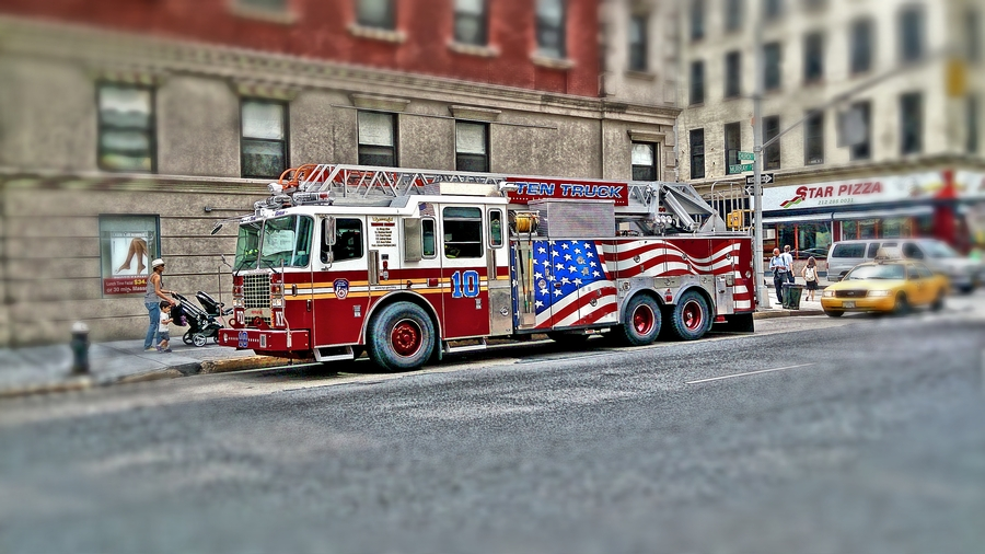 Nyc firedefence red