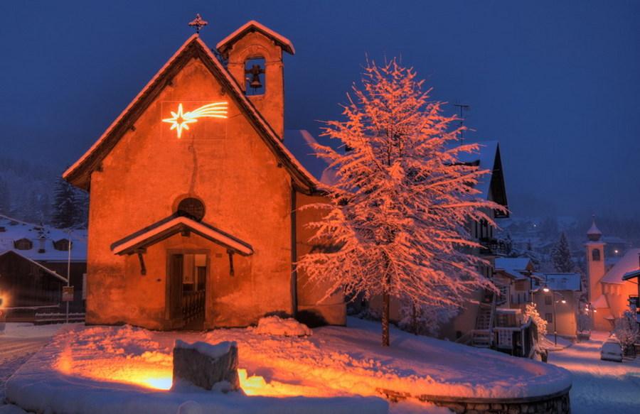 Cortina mountain dolomiti italy winter chiesa s francesco colli dino