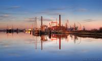 Harbour of Emden in the Evening