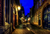 Little street in the city of Maastricht ( n.l )