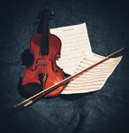 My violin still life shot with mobile phone